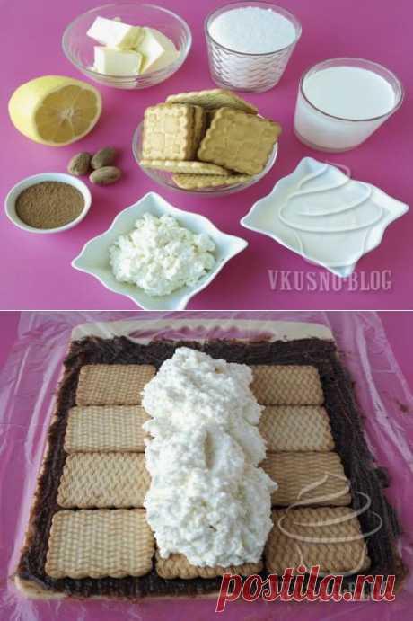 Творожный торт без выпекания - рецепт с фото