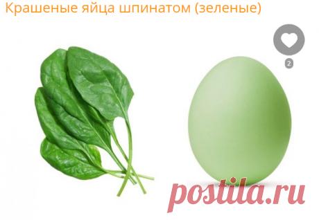 Крашеные яйца шпинатом (зеленые) - рецепт с фото на Повар.ру