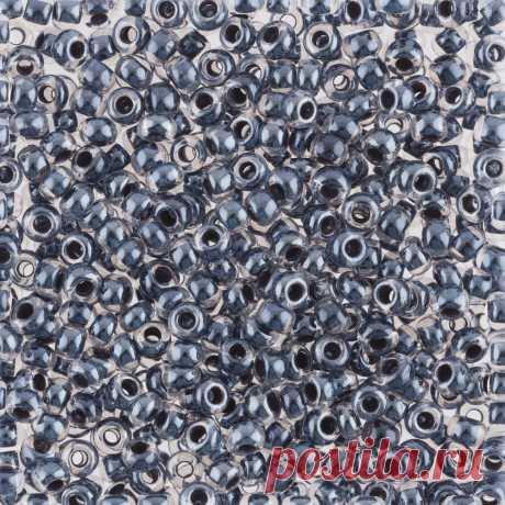 "Бисер круглый ""Preciosa"", 10/0, 500 грамм, цвет: 38149 (Ф242) тёмно-серый  "
