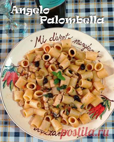 Рыба-меч по-сицилийски с пастой, мятой и помидорами. Pesce spada con pasta, menta e pomodori. Италия. Buon appetito! | ИТАЛЬЯНСКИЕ РЕЦЕПТЫ | Яндекс Дзен