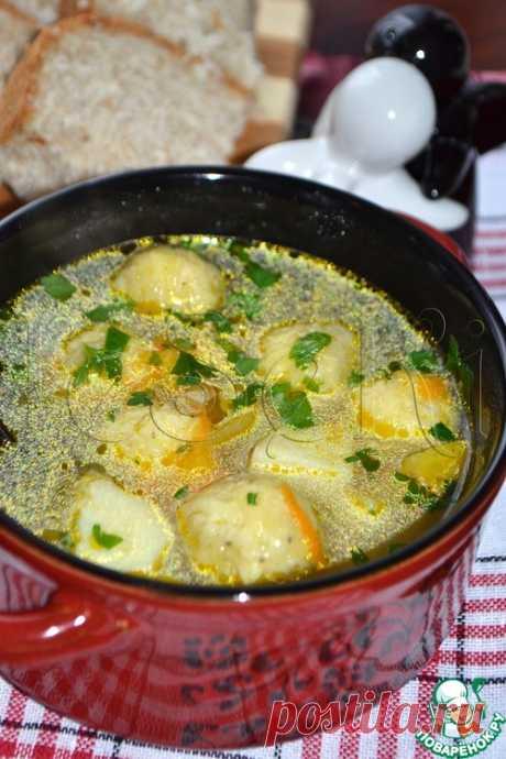Овощной суп с сырными шариками – кулинарный рецепт