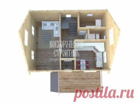 Компактный дом 8х6 м с котельной | Новгородский строитель | Яндекс Дзен
