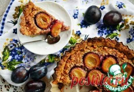 Сливовый тарт с франжипаном - кулинарный рецепт