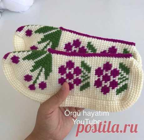 Селёдочки связанные тунисским вязание