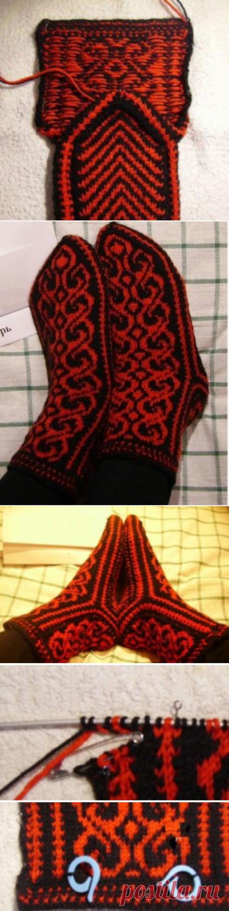 Джурабы спицами мастер класс вязания теплых носков