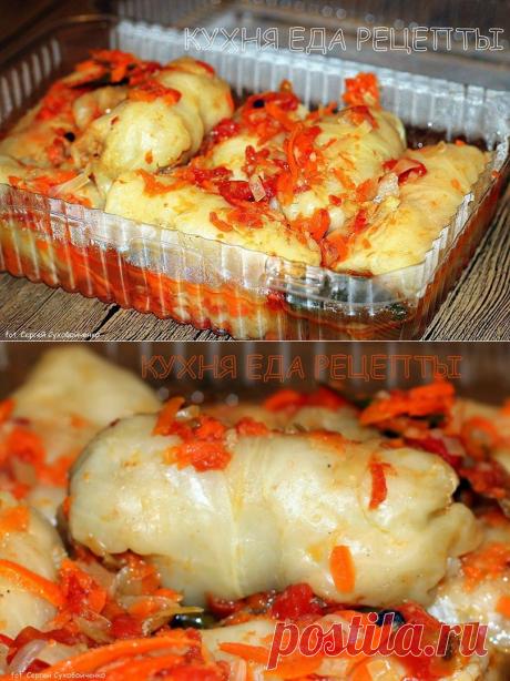 Кухня Еда Рецепты - голубцы с грибами и рисом