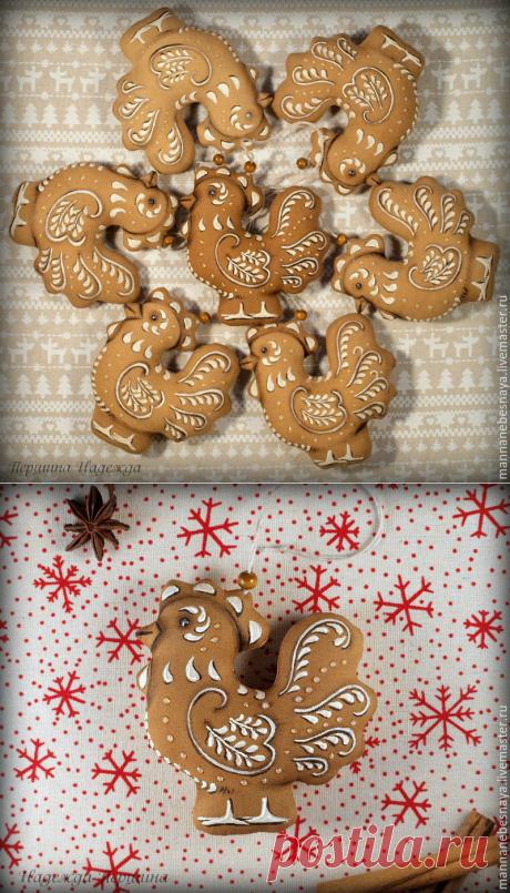 We sew a gingerbread cockerel — a symbol of 2017 - the Fair of Masters - handwork, handmade
