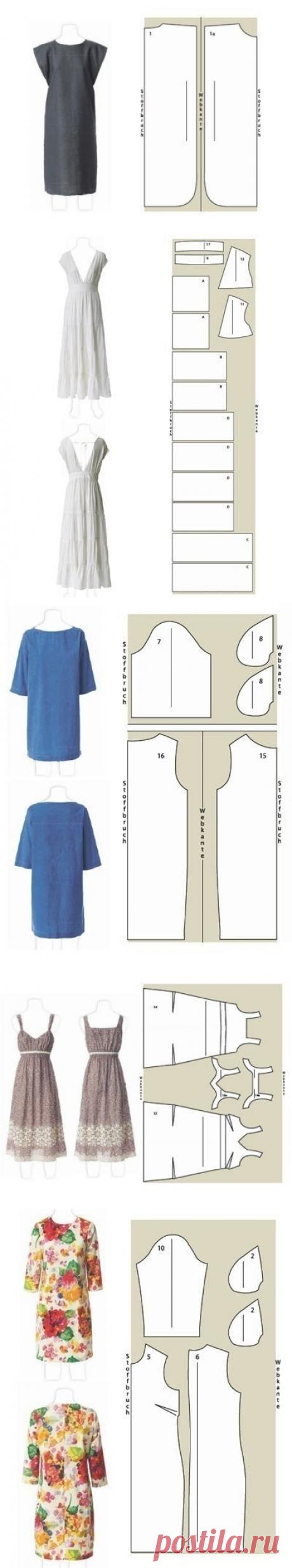 Шьем платья. Выкройки — Сделай сам, идеи для творчества - DIY Ideas