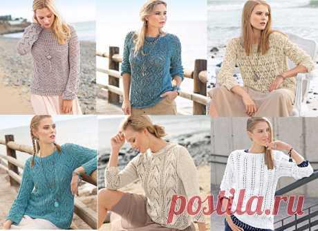 Вяжем очаровательные ажурные пуловеры. Подборка