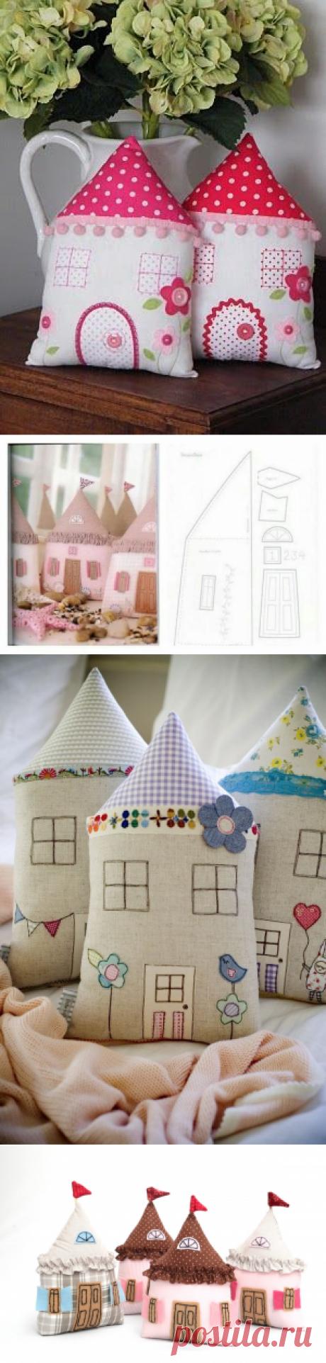 Подушки-домики: идеи для вдохновения — Сделай сам, идеи для творчества - DIY Ideas