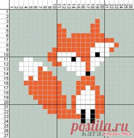Лисичка+лисичка+лиса =свитерок для озорной девчонки) - Вязание - Страна Мам