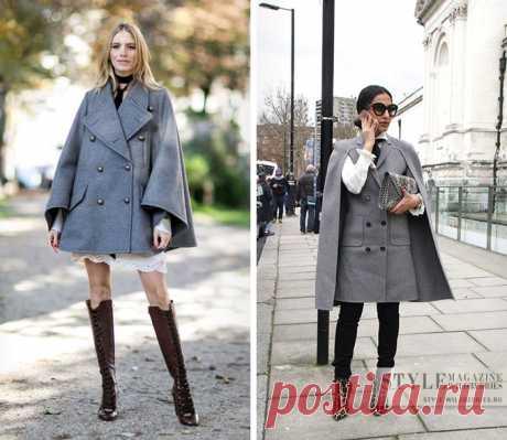 7eb5edcb46c Кейп  как носить самый женственный вид верхней одежды этой осенью Пальто-кейп  — это