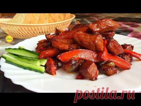 Быстрое приготовление мяса - 15 минут и готово! Мясо по-тайски из свинины.Очень советую попробовать!