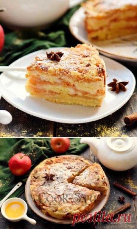Пирог с яблоками 3 стакана - рецепт с фото