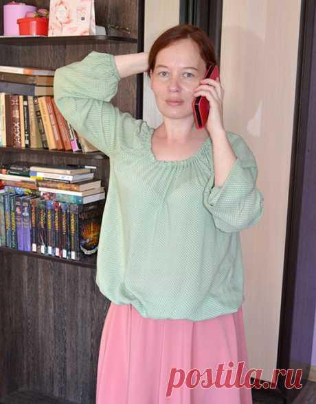 Свободная блузка на резинке: выкройка