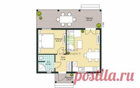 Проект Мини дом 65 - Каркас-Комплект