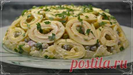 Праздничный вкусный салат «Шарлотка». Попробуйте и удивите своих гостей - Простые рецепты Овкусе.ру