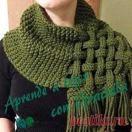 In a kopilochka of fans of knitting. Snud with a pletenka \u000a\u000aIn a kopilochka of fans of knitting. Snud with a pletenka\u000aThick yarn, spokes No. 6. We gather 30 loops, we knit 6 rows platochny knitting (density of 30 loops - 24 cm). We divide into 5 parts on 6 loops, we knit everyone …