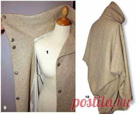 Выкройка объёмного пальто Модная одежда и дизайн интерьера своими руками