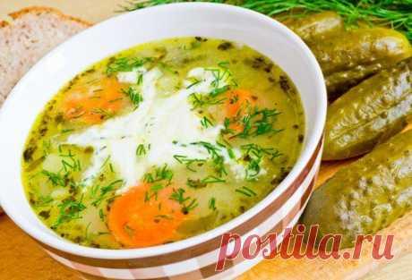 Польский суп с солеными огурцами и сметаной - Простые рецепты Овкусе.ру