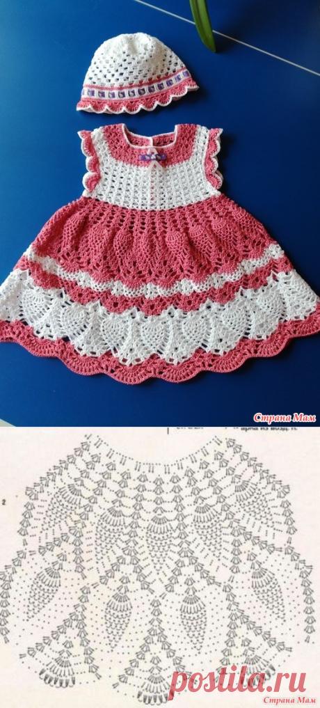 Вязание платьица для малышек