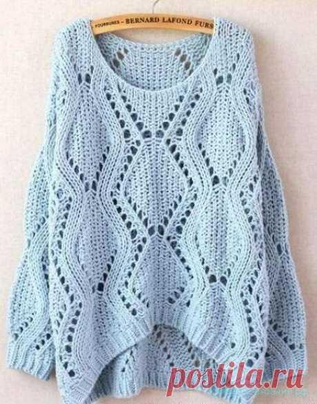 Вяжем свитер спицами. - Красивое вязание Красивый узор для вязания спицами.  Похожее