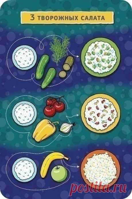 Три простых творожных салата — Мегаздоров