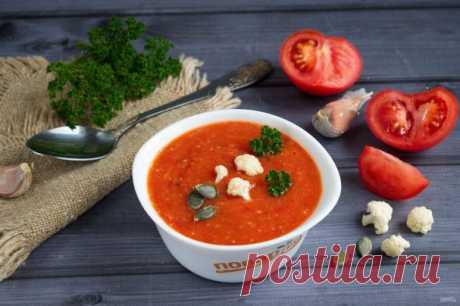 Суп из жаренных с чесноком томатов - пошаговый рецепт с фото на Повар.ру