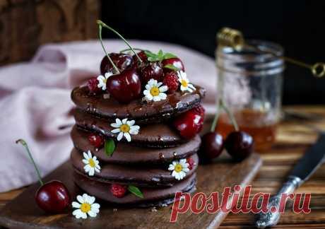 Шоколадные панкейки.