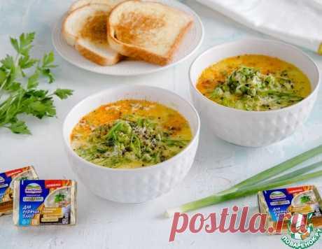 Сырный суп с зеленым горошком и травами – кулинарный рецепт