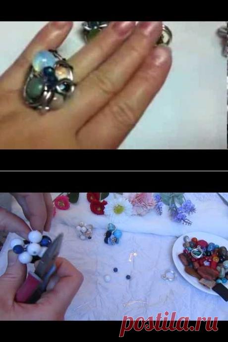 (1) Мастер класс по плетению кольца из проволоки от Ксении - YouTube