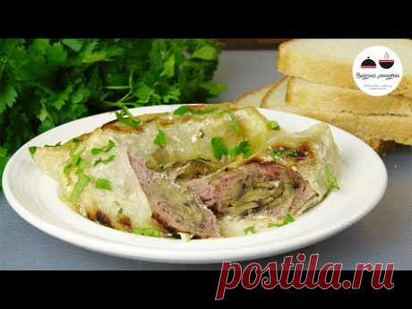 My favourite meat dish! The most tasty veal baked under cabbage leaves