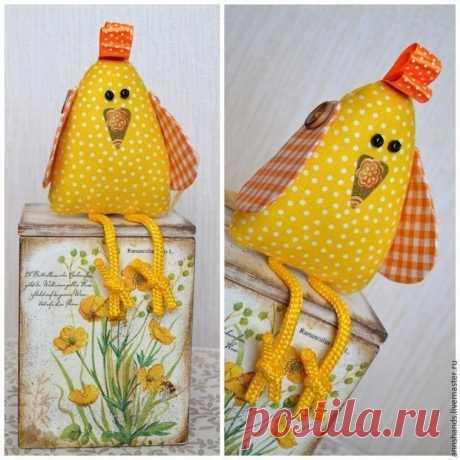 Шьем веселого пасхального цыпленка  #игрушки #секретымастеров #handmade