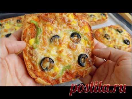 Вкусная пицца за 10 минут, когда не знаешь, что приготовить на ужин 😋😋 очень вкусно