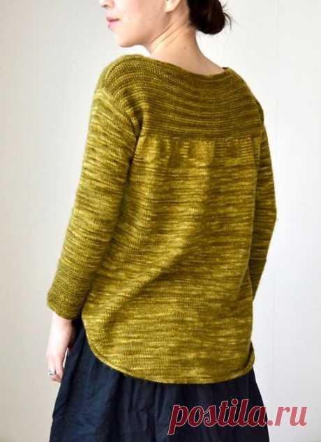 Пуловер с закругленным нижним краем Nokonoko - Вяжи.ру