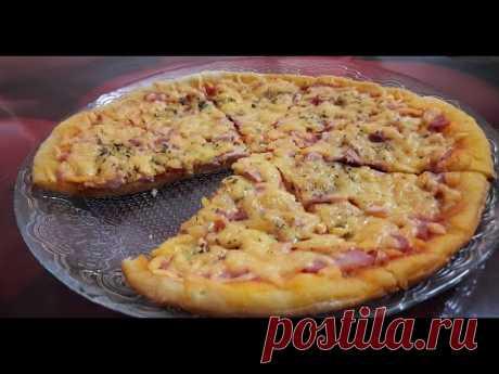 Очень быстрая, мягкая, тонкая пицца на кефире