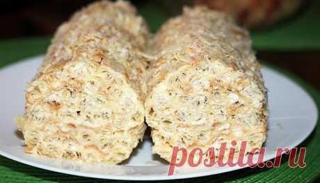 """Быстрый домашний торт """"Полено"""" - Простые рецепты Овкусе.ру"""