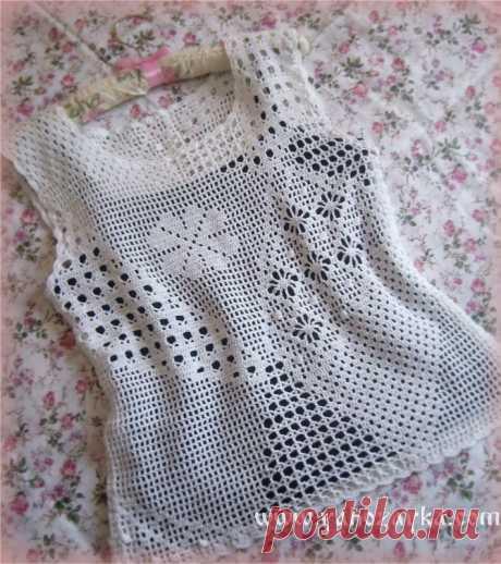 Blouse fillet pattern scheme. Fillet knitting by a hook of the scheme of jackets Blouse fillet pattern scheme. Fillet knitting by a hook of the scheme of jackets