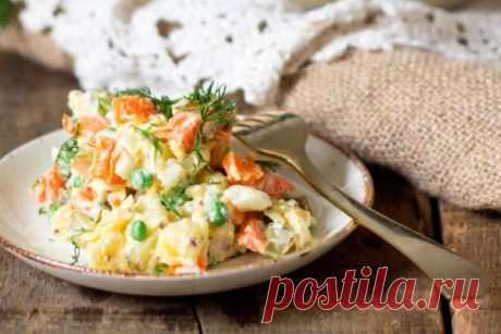 """Лёгкий диетический салат а-ля """"Оливье"""": можно есть хоть каждый день! - Полезные советы красоты"""