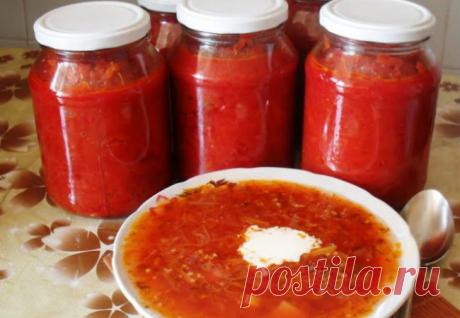 Сочная заправка для борща на зиму: суп станет вдвое вкуснее