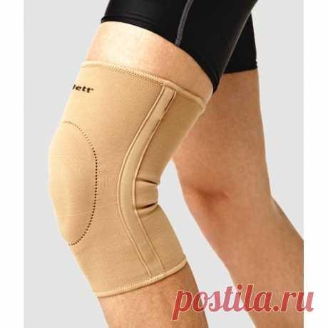 Бандаж на коленный сустав, эластичный с фиксирующей подушкой EKN-212 *