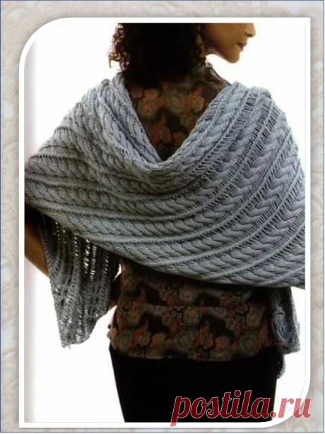 Ассорти из шалей: четыре модели для спиц и крючка | Embroidery art | Яндекс Дзен