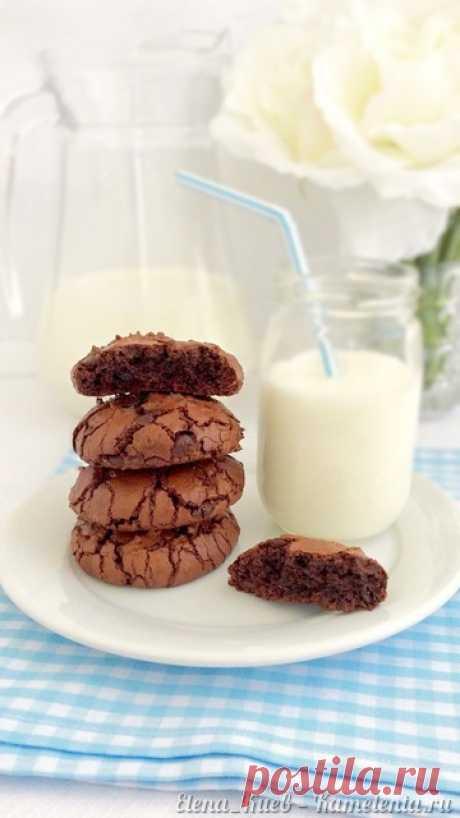 """Шоколадное печенье, пошаговый рецепт шоколадного печенья с шоколадными каплями с фото Я бы даже сказала, что это СУПЕР шоколадное печенье, потому что в рецепте есть черный шоколад, темное какао и шоколадные капли. Это печенье наверняка оценят все любители сладкого. Мой сын, которому в общем-то, нравится все что я готовлю, именно про это печенье сказал:"""" Мама, это самое вкусное печенье, которое ты делала!"""" И добавил:"""" А можно сделать так, чтобы это печенье никогда не заканчивалось?"""":)"""