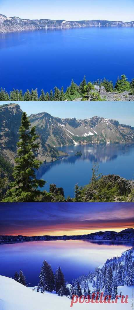 El parque nacional el Lago Kreyter, los EEUU. | las ciudades y el país