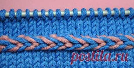 Начинаем вязать – Видео уроки вязания » Как вязать обручок – Урок вязания спицами №73