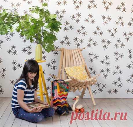 Декор стен в детской комнате🎠