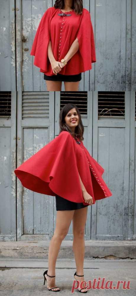 Fashionable idea from Hong Kong: spring poncho