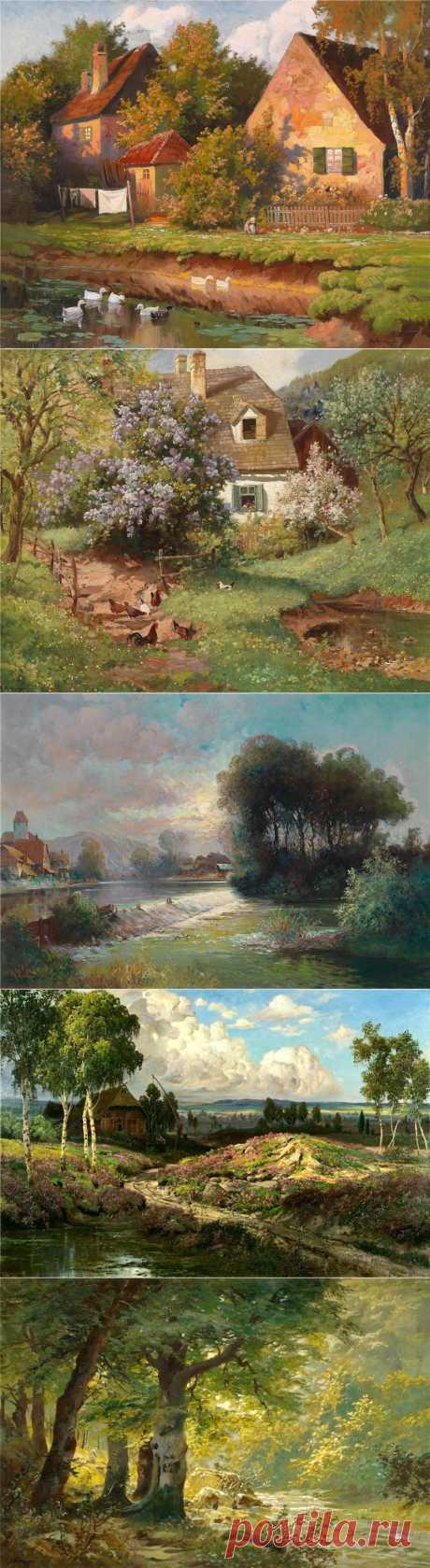 Пейзажи...Времена года...| Alois Arnegger.