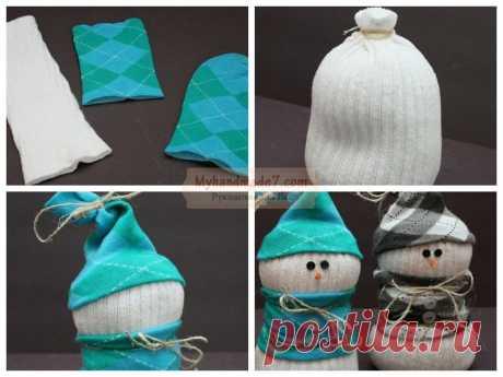Снеговик из носков своими руками: популярные мастер-классы с фото