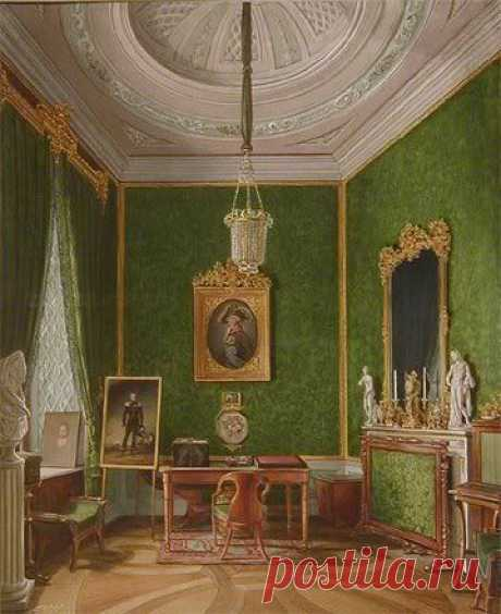 Gatchina - Maria Feodorovna's cabinet. Several Russian rulers, from Catherine the Great to Alexander III, put their decorative stamp on this palace. | Pinterest • el catálogo Mundial de las ideas